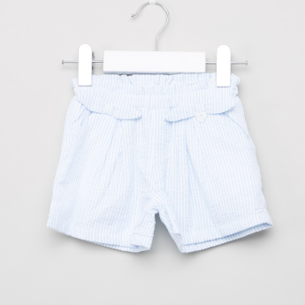 Giggles Striped Shorts with Elasticated Waistband
