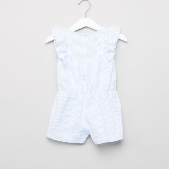 Giggles Striped and Embroidered Romper