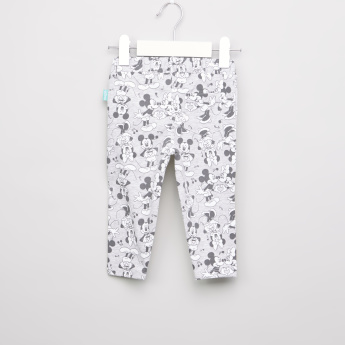 Mickey and Minnie Mouse Printed Pants with Elasticated Waistband
