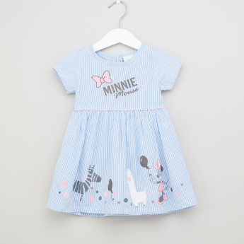 Minnie Mouse Printed Dress with Hat