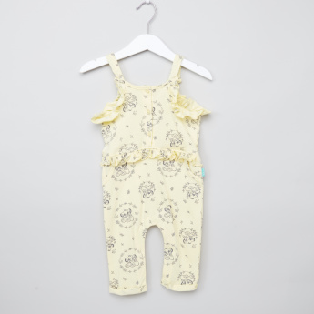 Simba Printed Jumpsuit with Ruffle Details