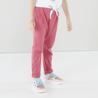 Juniors Solid Pants with Elasticised Waistband