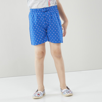 Juniors T-shirt and 2-Piece Shorts with Drawstring Waistband