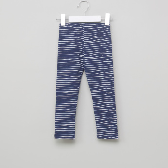 Juniors Striped  Leggings with Elasticised Waistband