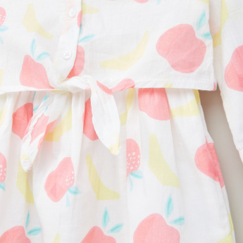 Juniors Printed Knot Detail Dress