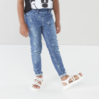Juniors Printed Full Length Jeggings