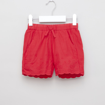 Juniors Schiffli Detail Shorts with Elasticised Waistband
