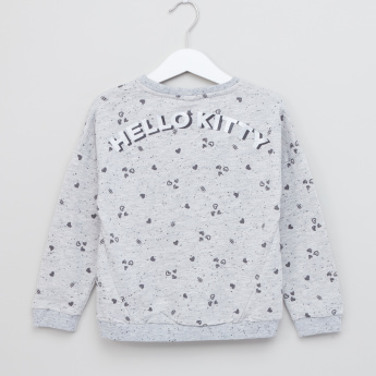 Hello Kitty Printed Long Sleeves Pullover