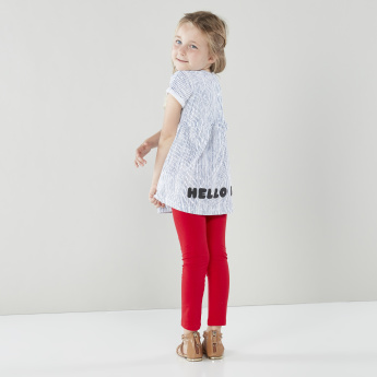 Sanrio Hello Kitty Striped Tunic with Contrast Leggings