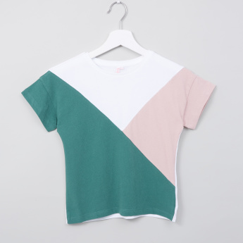 Juniors Colourblock Round Neck T-shirt