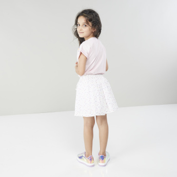 Juniors Polka-Dotted A-line Skirt with Pockets