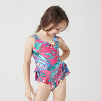 Juniors Floral Printed Swimsuit