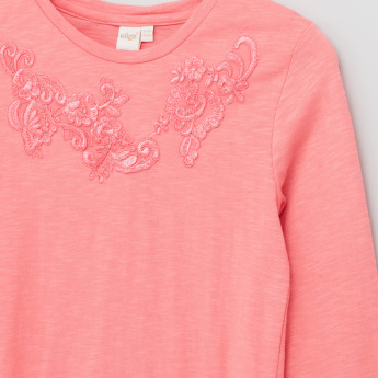 Eligo Embroidered Long Sleeves T-Shirt