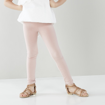 Eligo Schiffli Embroidered Top with Contrast Leggings