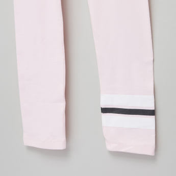 Posh Stripe Detail Leggings with Elasticised Waistband