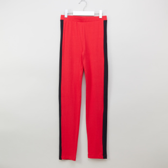 Posh Clothing Leggings with Contrast Stripe and Elasticated Waistband