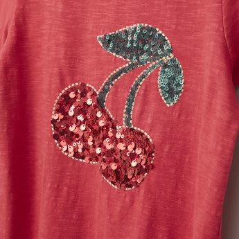 Posh Sequin Detail Short Sleeves T-Shirt