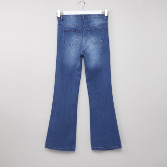 Posh Flared Jeans with Pocket Detail