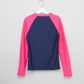 Posh Raglan Sleeves Rash Guard Jacket with Shorts
