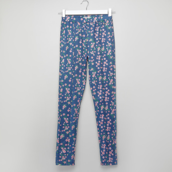 Lee Cooper Floral Printed Leggings with Elasticised Waistband