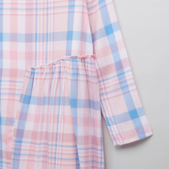 Lee Cooper Chequered Long Sleeves Dress
