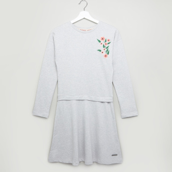 Lee Cooper Embroidered Sweat Dress