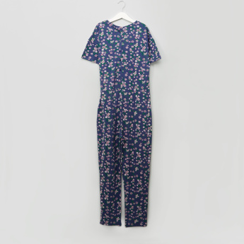 Lee Cooper Floral Printed Knot Detail Jumpsuit