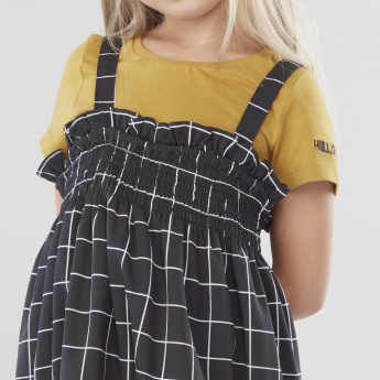 Sanrio Hello Kitty T-shirt and Checked Strappy Dress Set
