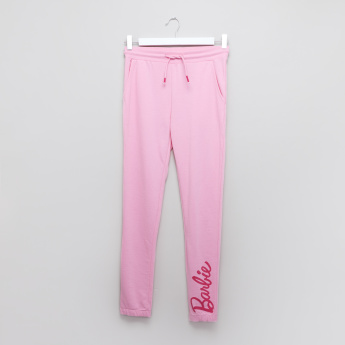Barbie Printed Jog Pants with Pocket Detail and Elasticised Waistband