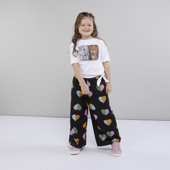 The Lion King Printed Top with Drop Shoulders and Tie Ups
