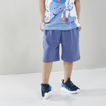 Juniors Printed T-shirt with Shorts
