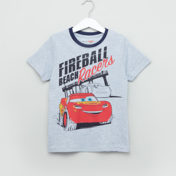 Cars Printed T-Shirt and Pyjama Set