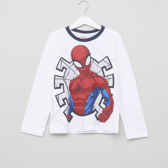 Spider-Man Printed T-Shirt and Pyjamas - Set of 2
