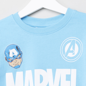 Avengers Printed T-Shirt with Jog Pants