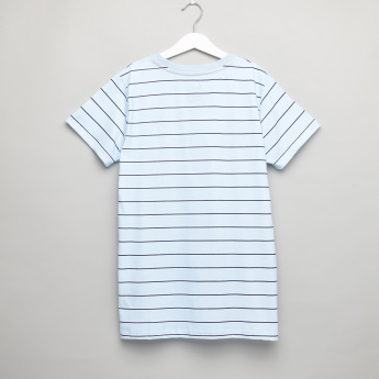 Juniors Striped T-shirt with Printed Shorts