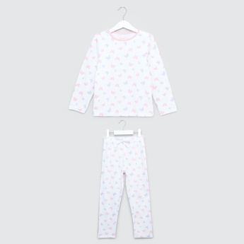Juniors Prinnted T-Shirt and Pyjama Set