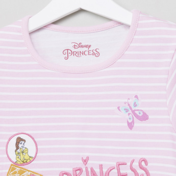 Princess Embroidered T-Shirt with Jog Pants