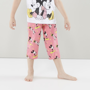 Minnie Mouse Printed T-shirt and Pyjamas