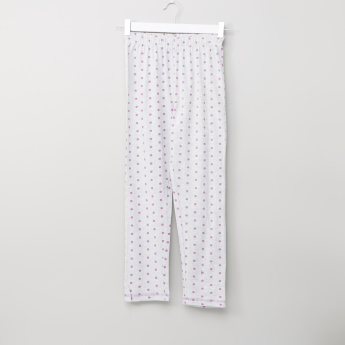 Carte Blanche Polka Dot Printed T-shirt and Pyjama Set