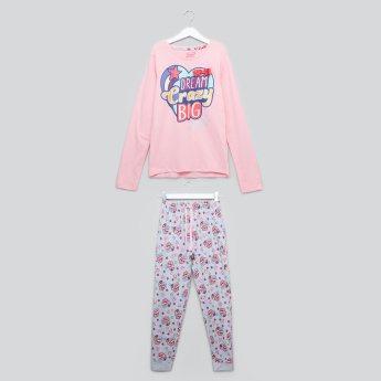 JoJo Siwa Printed T-Shirt with Jog Pants