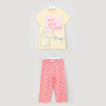 Carte Blanche Graphic Printed T-shirt and Pyjama Set
