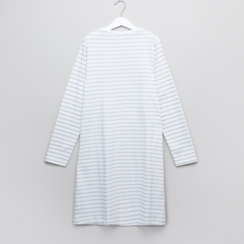 Carte Blanche Printed and Striped Sleep Dress