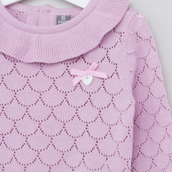Giggles Long Sleeves Pullover with Layered Collar