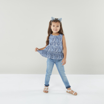 Juniors Simple Life Full Length Jeans with Pocket Detail