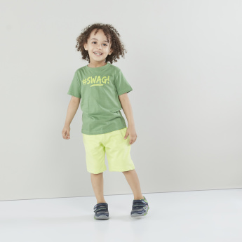 Juniors 3-Piece Printed T-shirt and Shorts Set