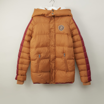 Iconic Hooded Puffa Jacket with Long Sleeves