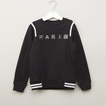 Iconic Applique Detail Sweater with Long Sleeves