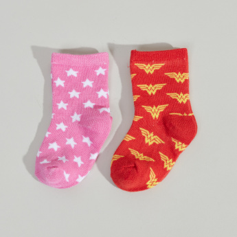 Wonder Woman Printed Socks - Set of 2