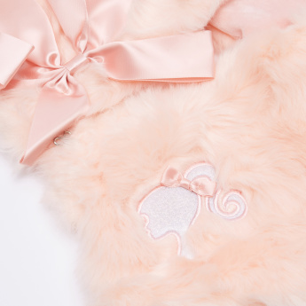Barbie Embroidered Plush Collar Muffler