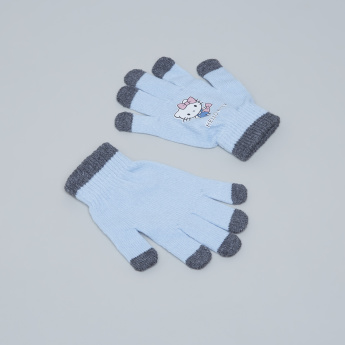 Hello Kitty Printed 3-Piece Winter Accessory Set